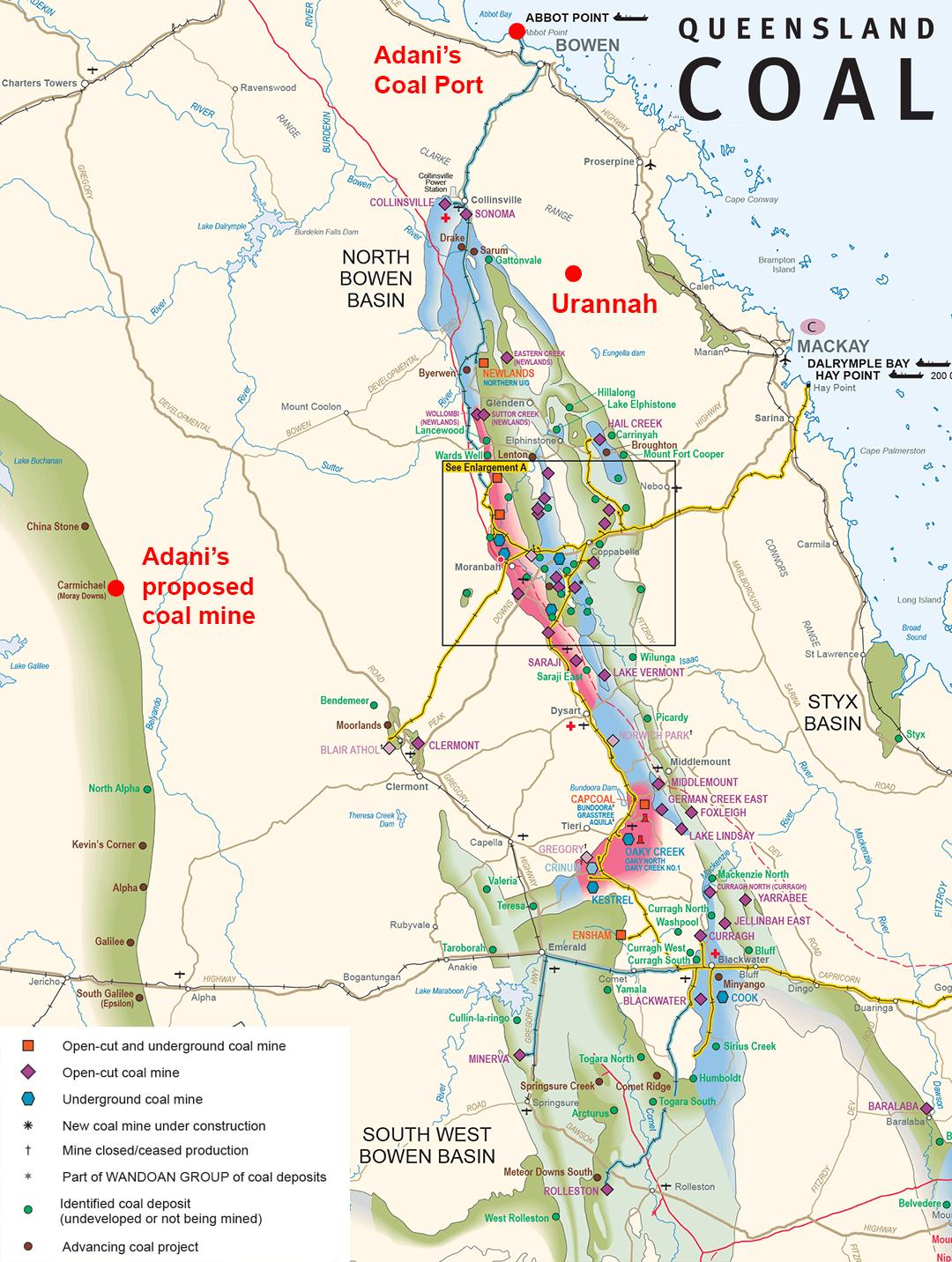 Urannah Coal Map